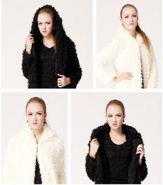 New Women Winter Long Sleeve Circling Hairy Shaggy Faux Fur Jacket Coat Outwear