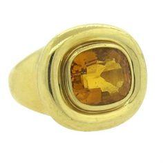 Tiffany & Co Paloma Picasso 18k Gold Citrine Ring