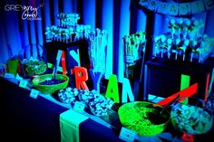 "Photo 24 of 40: Glow in the Dark, Neon / Birthday ""Glow in the Dark 18th Birthday"" | Catch My Party"