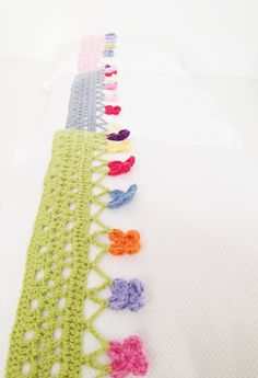Crochet Pillow Edging Pattern  Instant by annemariesbreiblog ~ I want to learn to make these and then sew them to pillowcases...awesome.