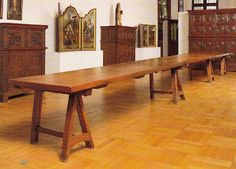 Giant 15th century trestle table. I want one! But probably smaller.
