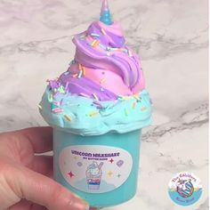 Blue Slime, Rainbow Slime, Butter Slime Recipe, Slime For Sale, Slime Craft, Kids Slime, Etsy Slime, Unicorn Milkshake, Glitter Slime