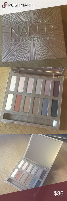 ‼️LIKE NEW‼️ Urban Decay eyeshadow palette USED ONCE; LIKE NEW‼️ Urban Decay Naked Ultimate Basics eyeshadow palette. As with all other UD shadows, the shadows in this palette are buttery soft and packed full of pigment. They blend effortlessly. No visible dips or gouges in the eyeshadows. HAS BEEN SANITIZED. Urban Decay Makeup Eyeshadow