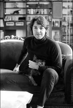 Early February 1968. A candid portrait of Paul, in the living room, at his home on Cavendish Avenue