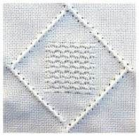 simple pulled work stitch  - http://www.needlework-tips-and-techniques.com/basic-embroidery-stitches.html#pulled