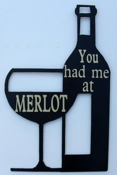 WineBottleGlassMetal ArtBarCocktailVineyardMerlot by BKcreations1, $32.00