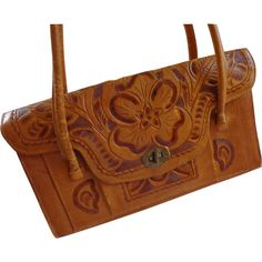 Purse Western Tooled & Carved Leather Vintage 1960's Handbag Bag  $40  http://www.rubylane.com/item/676693-AC141/Purse-Western-Tooled-Carved-Leather-Vintage