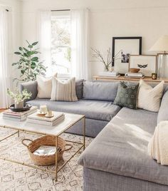 If you are looking for Traditional Living Room Decor Ideas, You come to the right place. Here are the Traditional Living Room Decor Ideas. Living Room Grey, Living Room Furniture, Living Rooms, Apartment Living, Living Room With Sectional, Living Room Lamps, Living Room Ideas 2020, Cozy Living, Living Room Decor Traditional