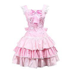 74d9660db146 Partiss Women's Lace Front Tie Sweet Vintage Victorian Lo... Niya · Sweet Lolita  Dress