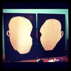 2 new paintings [3'x6'] in studio