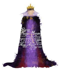 Evil Queen 8x10 Disney VILLAIN POSTER by LittoBittoEverything