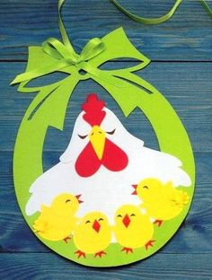 Cute Easter ideas from the paper! Kirigami chicken and rabbits for Easter ornaments and Easter cards. Easter Art, Easter Crafts For Kids, Diy For Kids, Easter Ideas, Easter Activities, Spring Activities, Diy And Crafts, Paper Crafts, Craft Work
