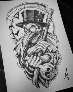 👍Rate the work from to . Comment below. DM us to be Featured. Dark Art Drawings, Tattoo Design Drawings, Tattoo Sleeve Designs, Tattoo Sketches, Art Sketches, Sleeve Tattoos, Drawing Tattoos, Dark Art Tattoo, Body Art Tattoos