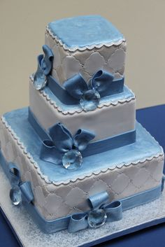Blue Quilt and Rhinestones by Alliance Bakery, via Flickr