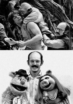 Frank Oz ~ Born Frank Richard Oznowicz; May 25, 1944 (age 71) in Hereford, Herefordshire, England. English-born American puppeteer, actor,filmmaker. He is best known for his puppeteering work, where he performed the Muppet characters of Miss Piggy and Fozzie Bear in The Muppet Show, and Cookie Monster, Bert, and Grover in Sesame Street. His work as a director include Little Shop of Horrors and Dirty Rotten Scoundrels He is also the puppeteer and voice of Yoda in the Star Wars films.