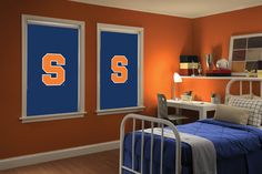Syracuse Orangemen Window Shades! Super awesome!!! Starting at $74.32 for a 3'x2' roller shade. www.sportyshades.com