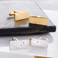 Personalised Constellation Cufflinks by Soremi Jewellery, the perfect gift for Explore more unique gifts in our curated marketplace. Wedding Day Gifts, Unique Gifts For Him, Silver Gifts, Personalised Box, Silver Bars, Constellations, Cufflinks, Fathers, London Chocolate