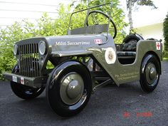 Custom Jeep pedal car
