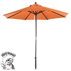 USA Phat Tommy Deluxe Sunline 9-foot Tuscon Orange Market Umbrella (Tuscan Orange) (Wood) #304-9FT.TUSCON