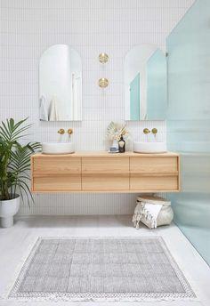 Coastal Bathrooms, Upstairs Bathrooms, Downstairs Bathroom, Timber Vanity, Beaumont Tiles, Shower Screen, Bathroom Inspiration, Bathroom Ideas, Bathroom Vanities