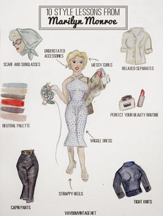 10 Style Lessons from Marilyn Monroe / Va-Voom Vintage Marilyn Monroe Outfits, Estilo Marilyn Monroe, Marilyn Monroe Stil, Marilyn Monroe Hairstyles, Marylin Monroe Style, Marilyn Monroe Body, Marilyn Monroe Makeup, Marilyn Monroe Costume, Look Fashion