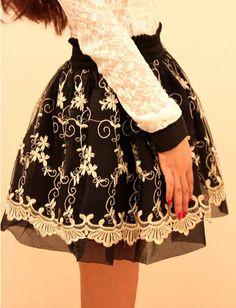 mori girl chiffon vintage Ball Gown Skirts Clothing casual feminina saia femininas print flower pattern cute spanking Clothes $15.90