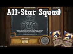 All-Star Squad - Tavern Brawl [Hearthstone] All Star, Squad, Channel, Stars, Videos, Youtube, Sterne, Star, Youtubers