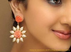 Beautiful rose earring