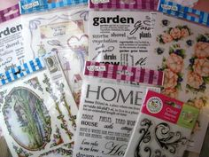 Huge Lot Rub Ons Rubber Stamps New Scrapbook Crafts Flowers