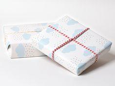 Geschenkpapier - Geschenkpapier ♥ Wolken ♥ - ein Designerstück von Tante-Trudel…