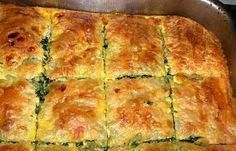 on the block συνταγές Greek Pastries, Bread And Pastries, Bread Dough Recipe, Dutch Oven Bread, Spinach Pie, Good Pie, Greek Cooking, Recipe Images, Spanakopita