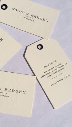 Hannah Bergen Heirlooms Business Cards
