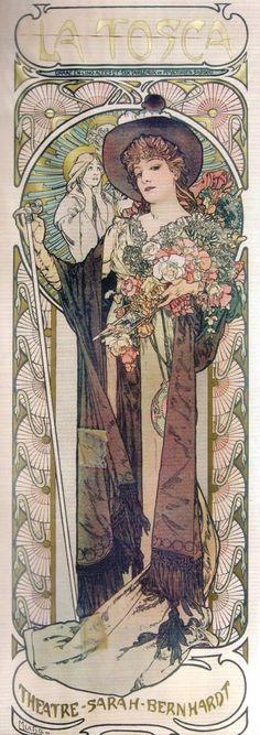 mucha | Alphonse Mucha & Sarah Bernhardt: Estética Art Nouveau / Art Nouveau ...