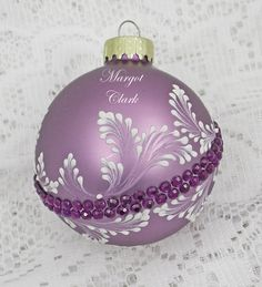 Laveder and Purple Hand Painted 3D MUD Floral by MargotTheMUDLady