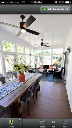 Screened Porch Design Ideas, Pictures, Remodel and Decor Four Seasons Room, Three Season Room, 3 Season Room, Enclosed Porches, Decks And Porches, Sunroom Dining, Sunroom Furniture, Sunroom Playroom, Dining Room
