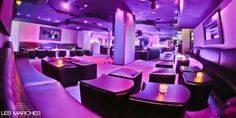 Custom manufactured furniture for  Les Marches Nightclub,  Cannes, France