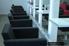 Salon Ideas from Ayala salon furniture. Salon Furniture, Salon Design, Massage, Bubbles, Stairs, Hair Beauty, Styling Chairs, Modern, Salon Ideas