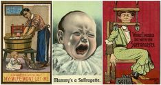 16 Shocking Vintage Posters Warning Men of the Disasters of Women's Rights #feminism