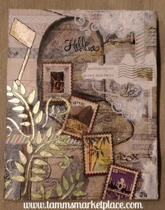 Hello! from the Mixed Media Postage Themed 8x10 canvas