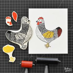Carving and printing this chicken whilst dreaming of my future homesteading lifestyle