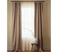 drop cloth curtains....with white sheers