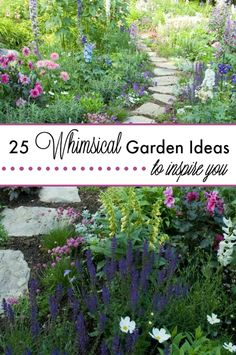 Here are 25 whimsical garden ideas that have inspired my own garden. I can't decide which one I like the best because they are all so glamorous! | The Glamorous Housewife