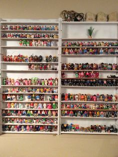 This is some of our Playmobil people. We used shelving that was made for me from when I used to stamp. -Dall Bariscak and Emily B.