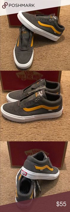 TNT SG Vans New in box. Pewter/sunflower Vans Shoes Sneakers