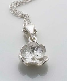 Look at this Sterling Silver Blossom Pendant Necklace on #zulily today!