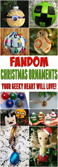 Christmas Gifts - 25 Fandom Christmas Ornaments Your Geeky Heart Will Love! – Totally The Bomb. Handmade Christmas Gifts, Diy Christmas Ornaments, Homemade Christmas, Christmas Decorations, Geek Christmas Gifts, Ornament Crafts, Christmas Ideas, Stranger Things Christmas, Geek Decor