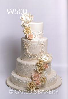 Pastel de bodas Diseños florales - panadería de Carlo