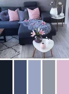 The Inexplicable Puzzle Into Living Room Decor On A Budget Apartment Color Schemes - Home decor interests Apartment Color Schemes, Living Room Color Schemes, Paint Colors For Living Room, Living Room Grey, Bedroom Colors, Living Room Designs, Home And Living, Bedroom Decor, Cozy Living