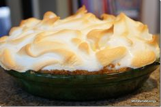 Meyer Lemon Meringue Pie #Recipe » MBAMamaMusings