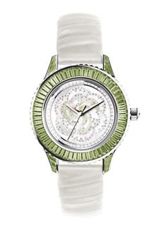 Dior Pièce Unique white gold, tourmaline, diamond and pink sapphire #watch